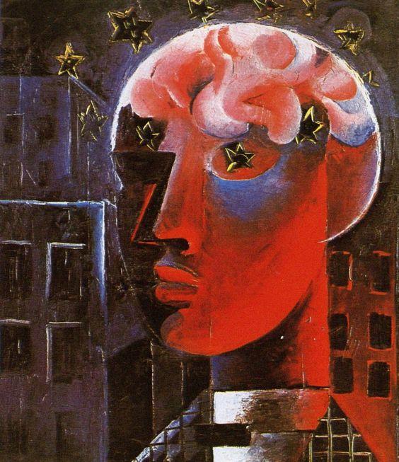 Otto Dix, Roter Kopf (Selbstbildnis) [Red Head (Self Portrait)], 1919