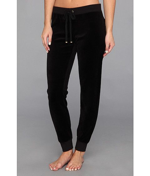 Juicy Couture Slim Comfy Pant Black - 6pm.com