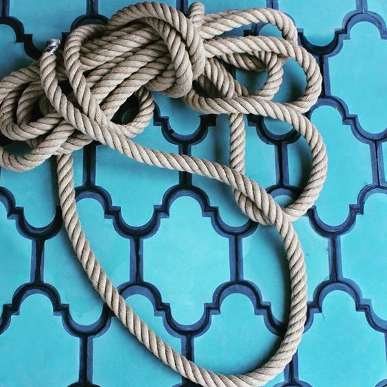 #pophamdesign LANTERN #handmade #concretetiles in a nautical azure indigo color combo #ihavethisthingwithtiles #madeinmorocco