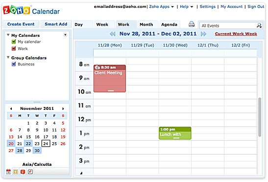 free schedule calendar