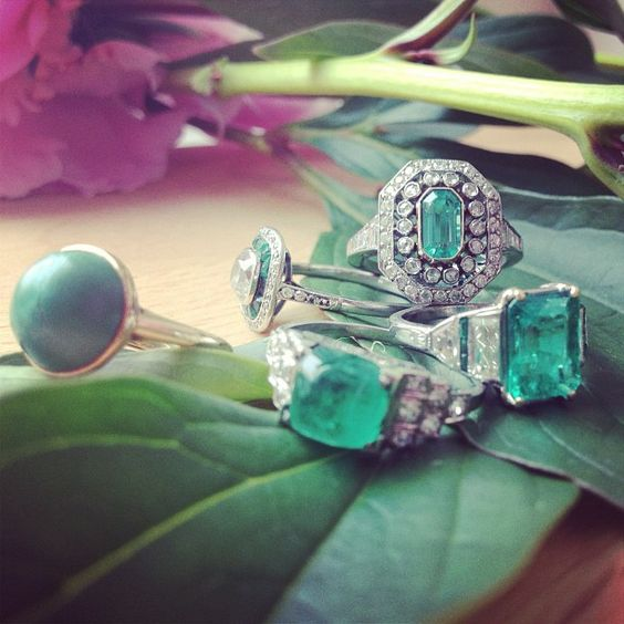 From the Trumpet & Horn Instagram: We have emerald fever, and so do our customers! This instagram photo of some brand new T & H emerald rings has our followers swooning. We LOVE them too! Stay tuned for these emerald beauties to end up on our website! TrumpetandHorn.com