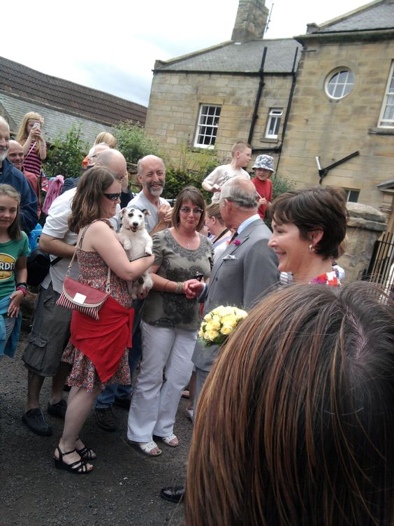 HRH Prince Charles and Her Grace the Duchess of Northumberland Meets the crowds in Warkworth Northumberland