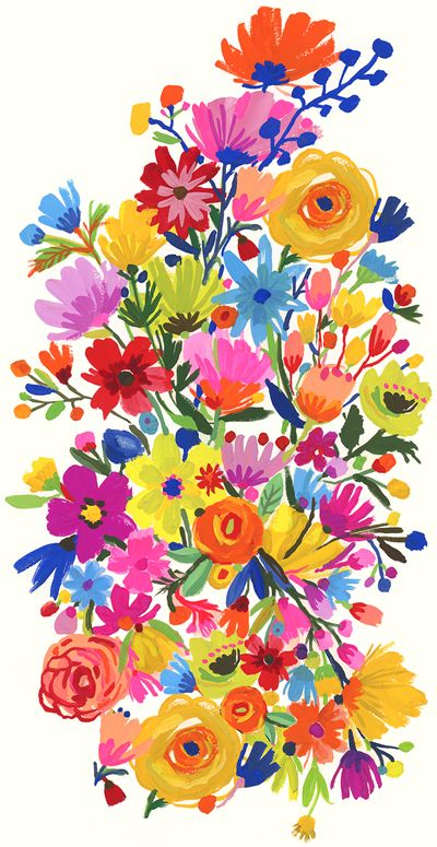 Beautiful floral illustration ❤