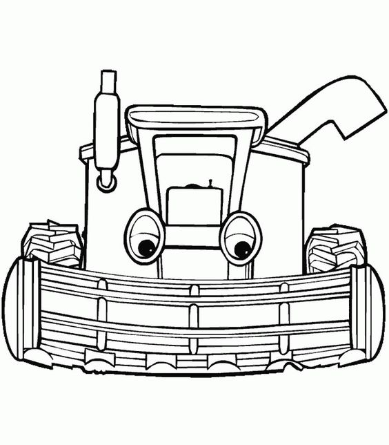 tractor coloring pages for kids printable