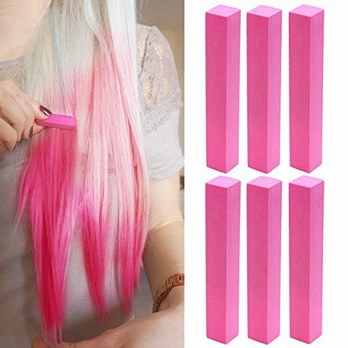 Pastel Pink Kendall Style Hair Dye Set of 6  Vivid Pink Hair Dye  ROSE PINK Hair Color  With Shades of Pink Set of 6 Hair Chalk  Color your Hair Barbie Pink in seconds with temporary HairChalk *** To view further for this item, visit the image link.