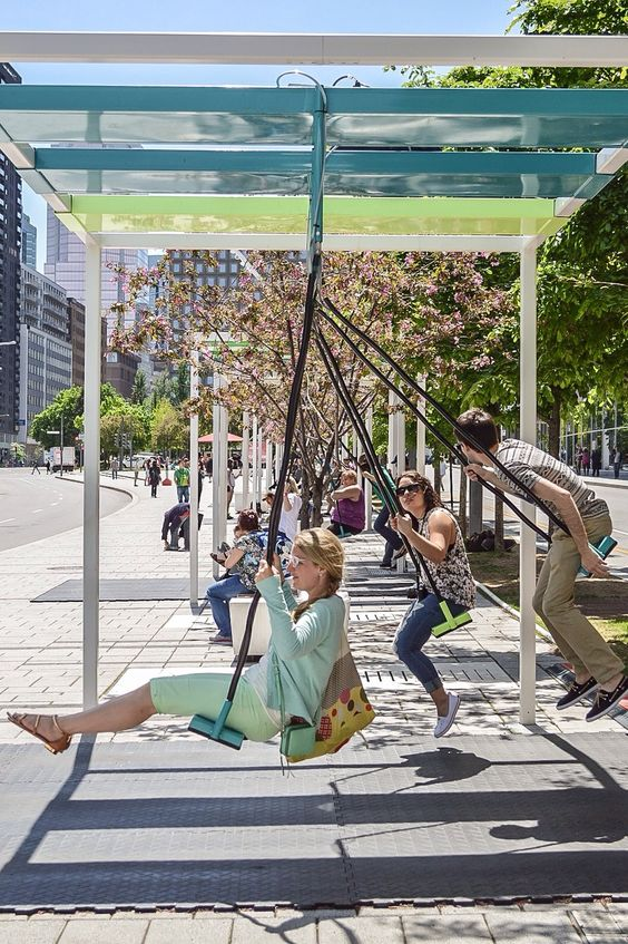 Creative Bus Stop (Swings) Swing bus stop, Montreal