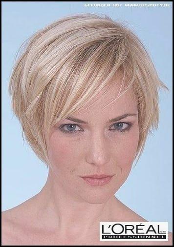 Damen haar kurzhaarfrisuren blond dünnes 13 kurze