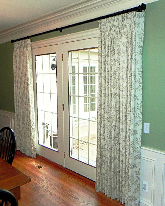 French Door Window Treatments Ideas Part - 20: Patterned Curtains And Bamboo Shades For Style And Privacy | Drapery |  Pinterest | Pattern Curtains, Patterns And Doors