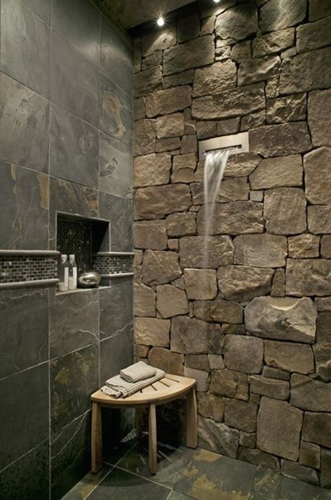 London Builders Bathroom Remodeling Banos Con Piedra Diseno De