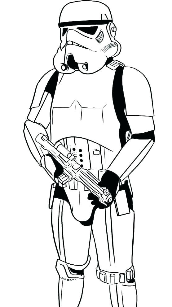 Stormtrooper Coloring Pages Star Wars Drawings Drawing Stars