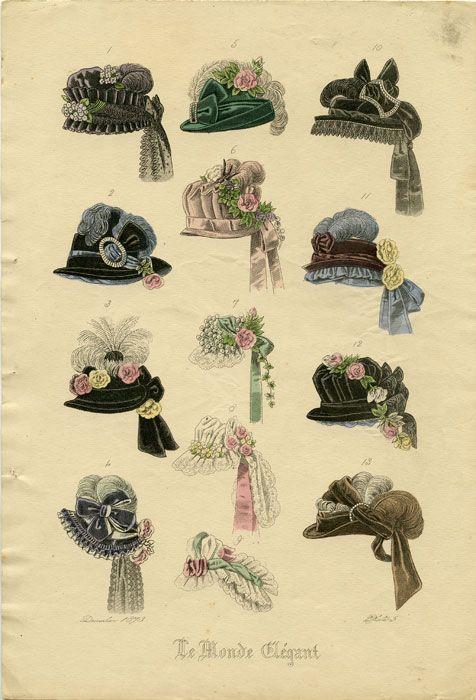 Victorian fashion plate: December 1873. Plate 5, Le Monde Elegant