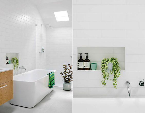 Stillvolle-badezimmergestaltung-mit-pflanzen-fuers-bad | Interior ... Badezimmergestaltung
