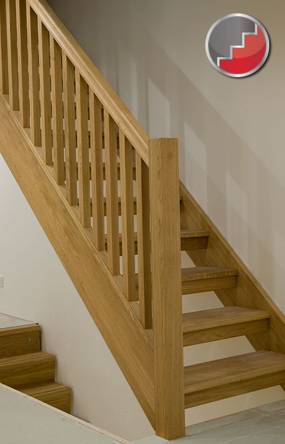 Best Oak Staircase With Open Risers Compliant With Uk Building 640 x 480