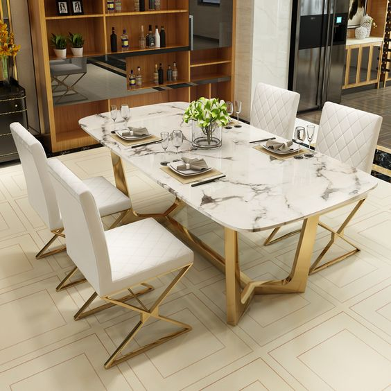 Prodcut Image Marble Top Dining Table Marble Dining Table Decor