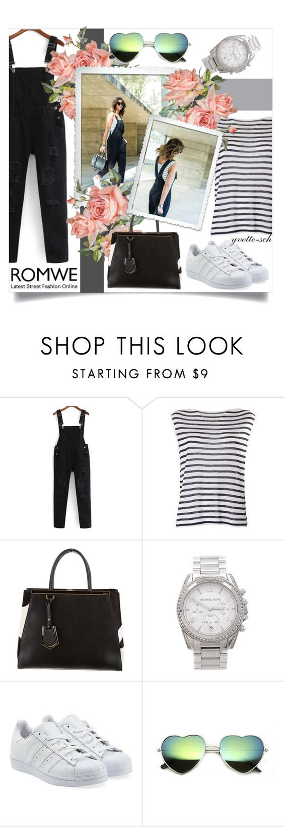 """""""Jumpsuit Time"""" by yvette-sch ❤ liked on Polyvore featuring T By Alexander Wang, Fendi, Michael Kors and adidas Originals"""