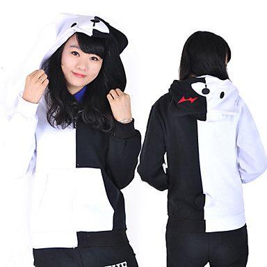 Dangan Ronpa Monokuma manches longues unisexe cosplay costume à capuche – EUR € 34.38