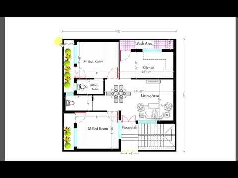 900 Sq Ft 2bhk New House Plan 2bhk House Plan House Plans New House Plans