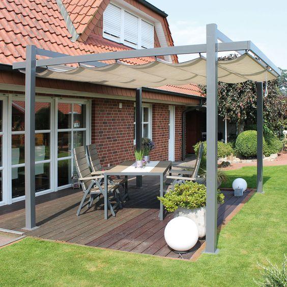 Terrassen-Überdachung und Pergola Garten Pinterest - garten terrasse uberdachen