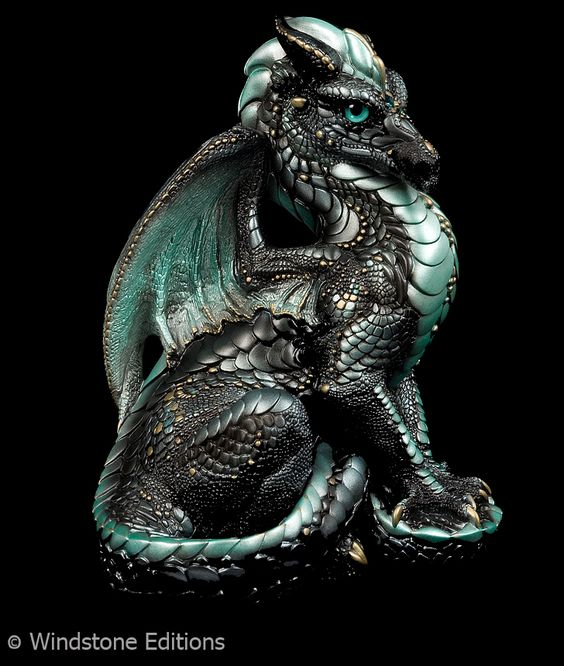 Black Ice male dragon by *Reptangle on deviantART