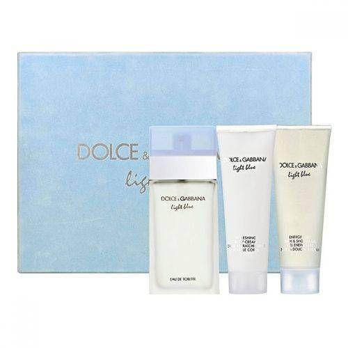 Foto 1 Kit Perfume Dolce Gabbana Light Blue 100ml Body Cream Shower Dolce E Gabbana Perfume Cores