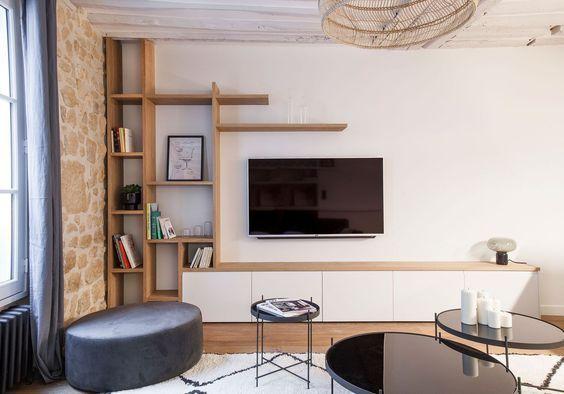 Salon 21 Coins Tv à Aménager Sans Plus Attendre Home Living Room Living Room Tv Living Room Designs