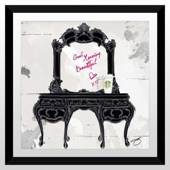"FramedCanvasArt.com By Jodi ""Good Morning Beautiful"" Framed Plexiglass Wall Art"