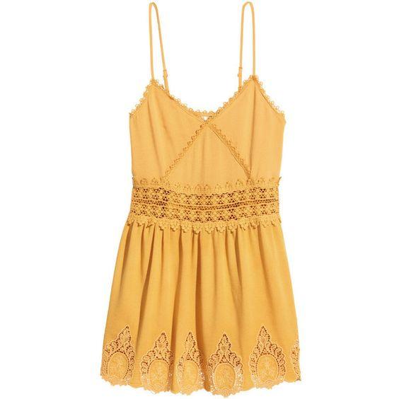H m yellow rap dress tunic