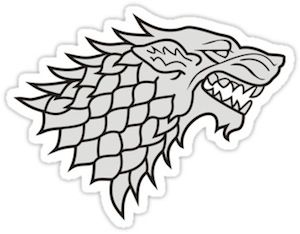 game of thrones direwolf emblem