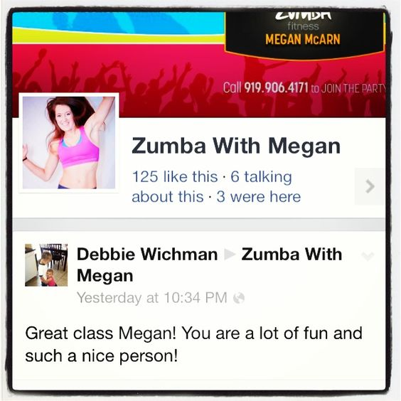 Loving all the positive feedback! Come join the party if you're in the Cary/Morrisville area. Check out www.zumbawithmegan.com for more info! #zumbalove #zumba #zumbawithmegan #fitness #jointheparty