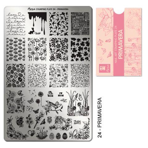 Moyra Stamping Plate 24 - Primavera