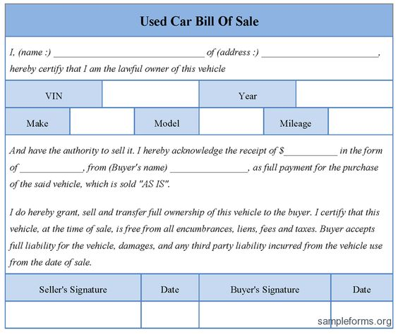 Please print the application form for the credit card that you are - auto bill of sale
