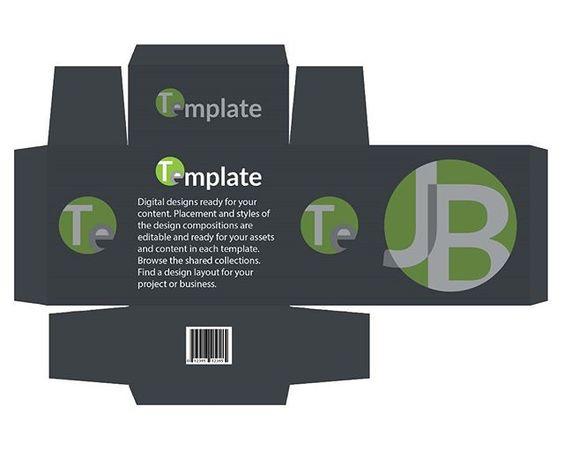 Download Free Template - Package 7in Dieline - Photoshop Dieline Template Download