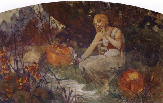 Prophetess, by Alphonse Mucha