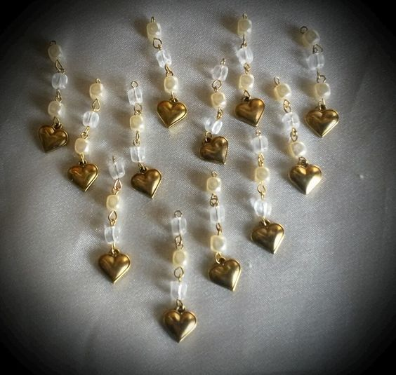 pendentifs coeurs et perles : Autres accessoires bijoux par claudeplume