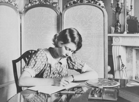 Princess Elizabeth in her schoolroom