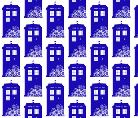 Gallifreyan TARDIS fabric by veetvoojagig on Spoonflower - custom fabric