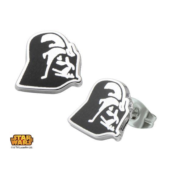 Stainless Steel Star Wars Darth Vader #Enamel #Stud #Earrings. #jewelry #starwars #disney #darkside #darthvader