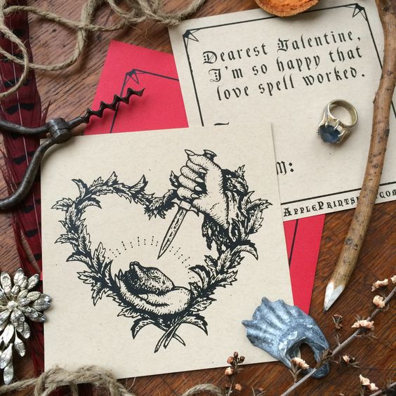 Love Spell Valentine From Poison Apple Printshop. | Poison Apple Printshop  | Pinterest | Poison Apples