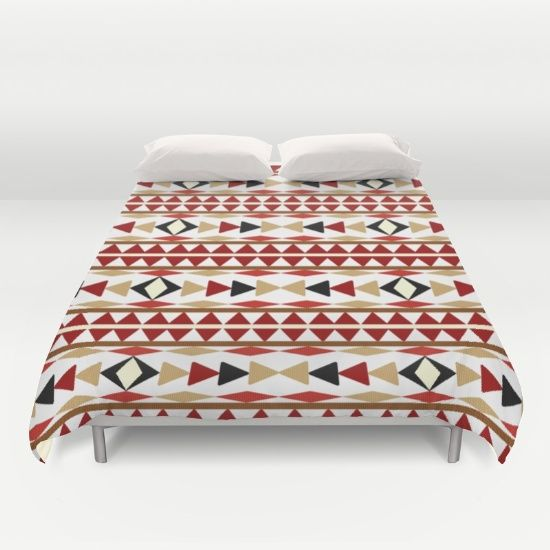 Buy ultra soft microfiber Duvet Covers featuring Navajo White Pattern Art by Christina Rollo. Hand sewn and meticulously crafted, these lightweight Duvet Cover vividly feature your favorite designs with a soft white reverse side.