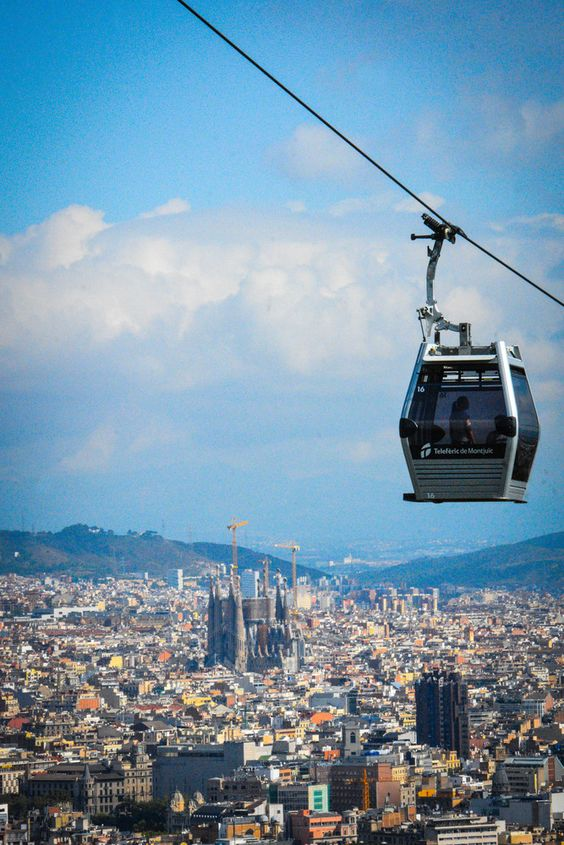 Bergbahn zum Montjuïc - Funicular del Montjuïc de fcristy - Barcelona, Catalonia.