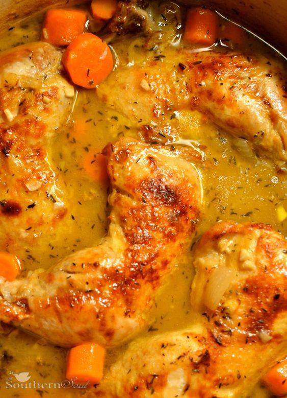 Cider Braised Chicken Thighs