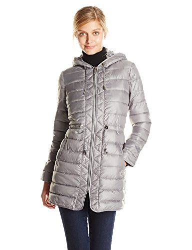 Kenneth Cole Women&39s Lightweight Packable Jacket with Cinch Waist