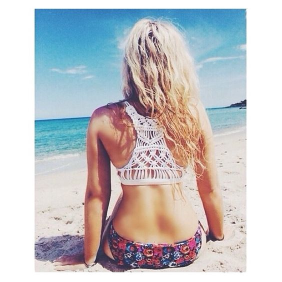 """@tara_marie_xo in the Abbey Crop in white... Available now @wanderlustbali """