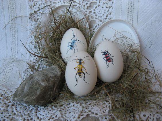 Gänseei mit Käfer - handbemalt von mein Bug -> dein Bug auf DaWanda.com: