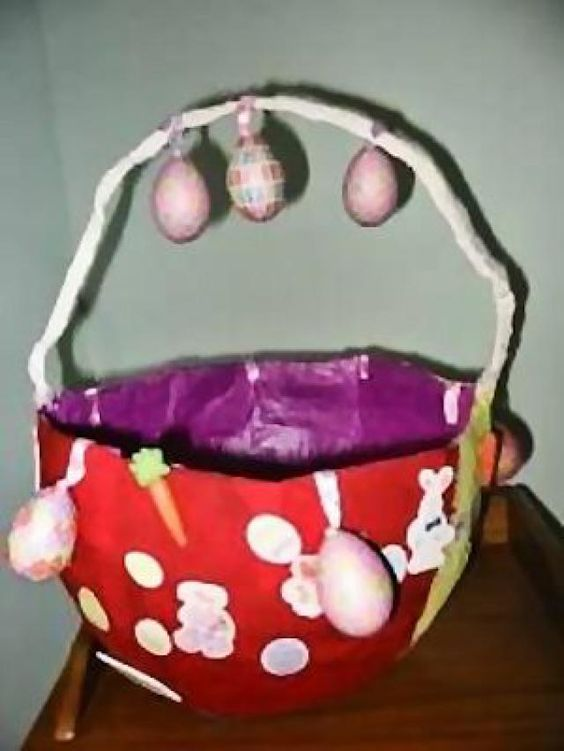 Paper Mache Easter Egg Basket: How to Make a Paper Mache Basket