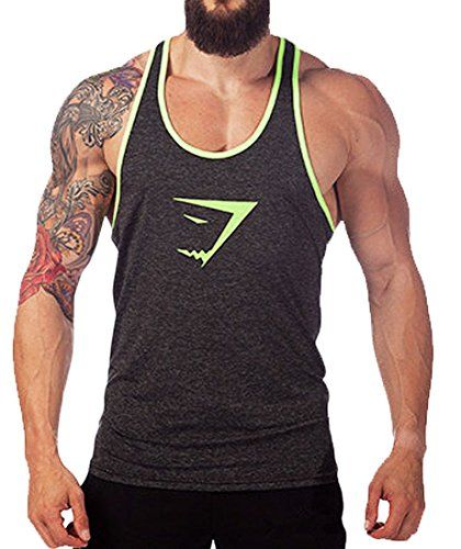 Tuesdays2 Men Gym Muscle Sleeveless Shirt Tank Top T-shirt Bodybuilding Sport Vest (L/US8, Gray) - http://fitness-super-market.com/?product=tuesdays2-men-gym-muscle-sleeveless-shirt-tank-top-t-shirt-bodybuilding-sport-vest-lus8-gray
