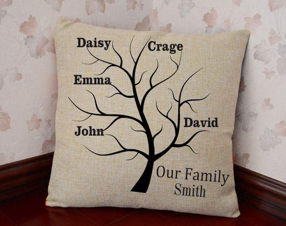 Family Tree Pillow CoverGrandkids PillowFamily by CreativePillow