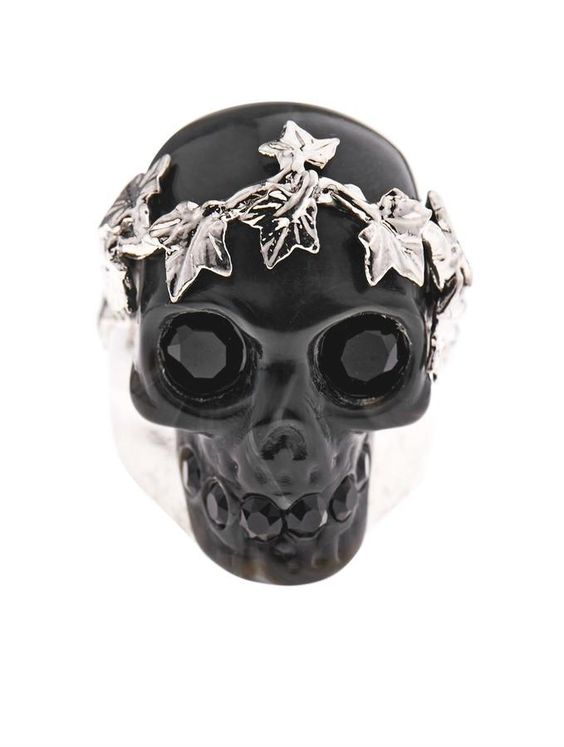 Alexander McQueen Ivy skull ring on shopstyle.com