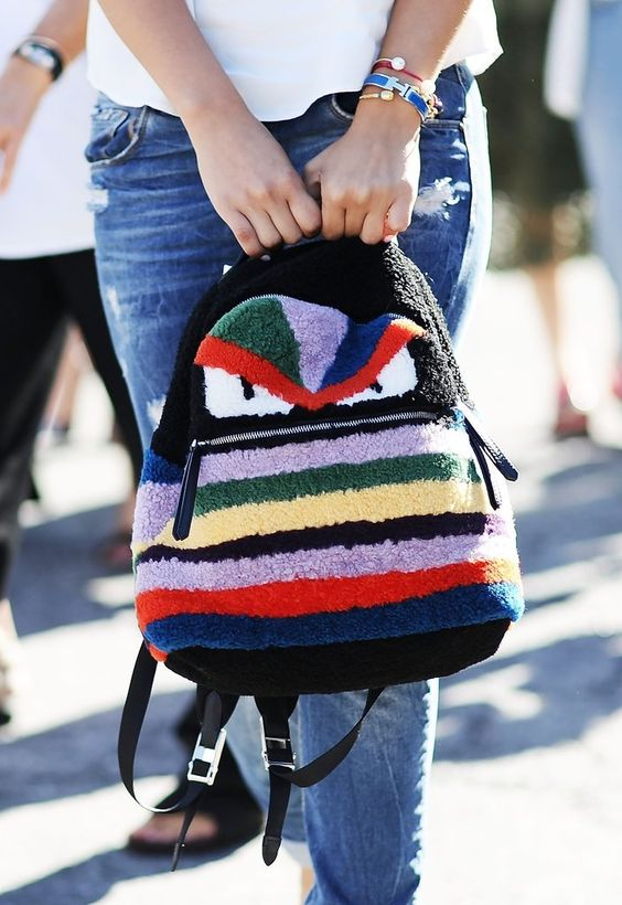 fendi backpack streetystyle inspiration