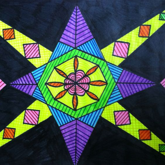 Playing with geometry and bright colors
